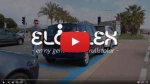 Eloflex elrullstol hopfällbar film youtube video